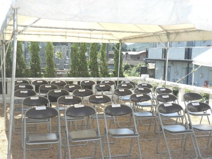 準備の終わった来賓席