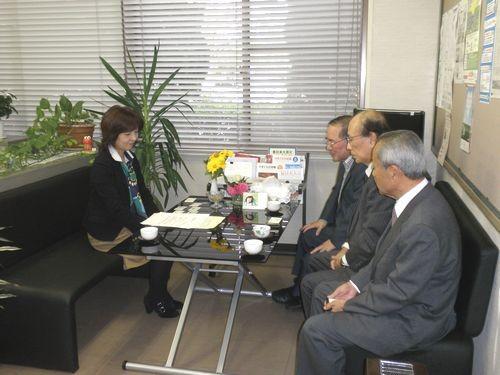 連合山口 中部地域協議会 訪問 鶴岡事務局長へご挨拶