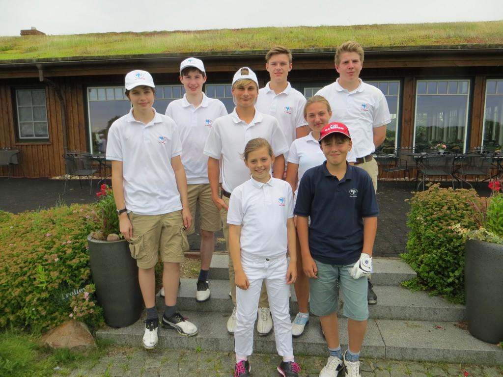 Die Mannschaft: Robert, Alexander, Nick, Julius, Lisa und Friedrich-Carl. Als Ersatzspieler waren Ella und Jan am Start.