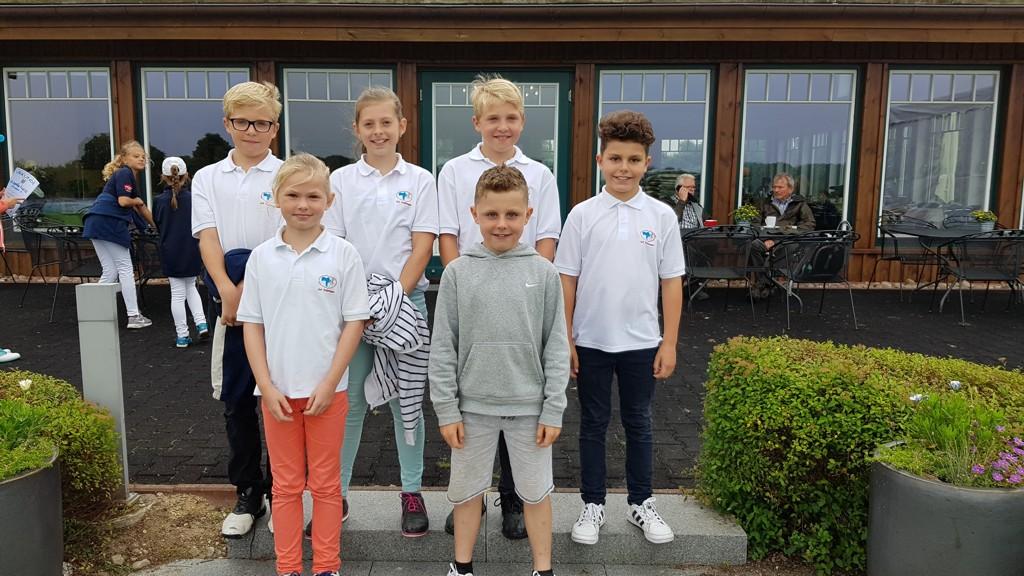 Unsere Heimspiel-Mannschaft: Christian, Rieke, Ella, Caspar, Noah, Ben