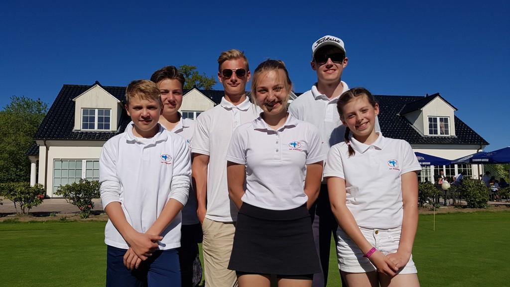 Unsere Mannschaft in Sülfeld: Caspar, Jan, Nick, Lisa, Julius und Ella
