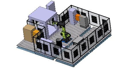 Roboterzelle mechanische Konstruktion