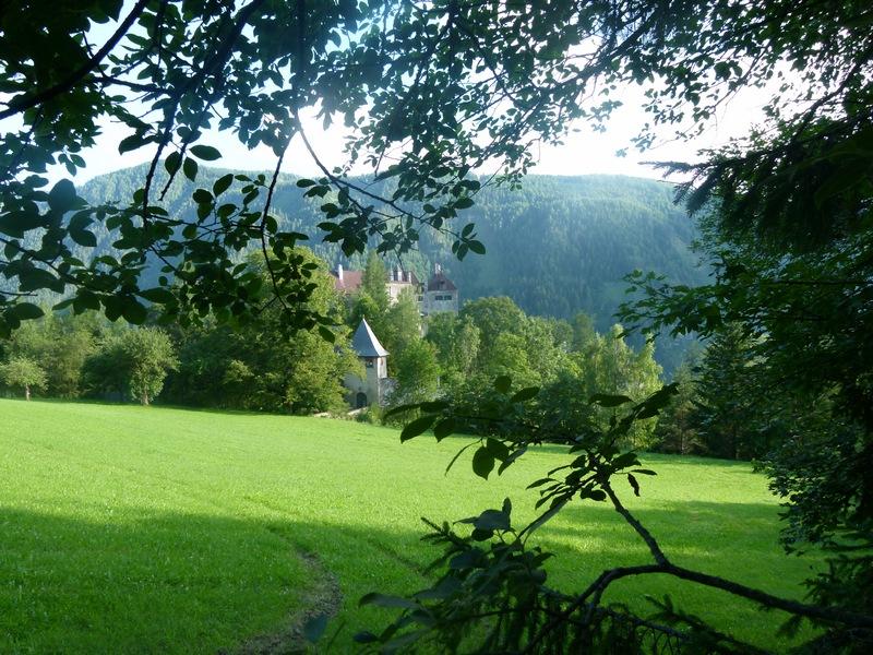 Blick auf Burg Rothenfels