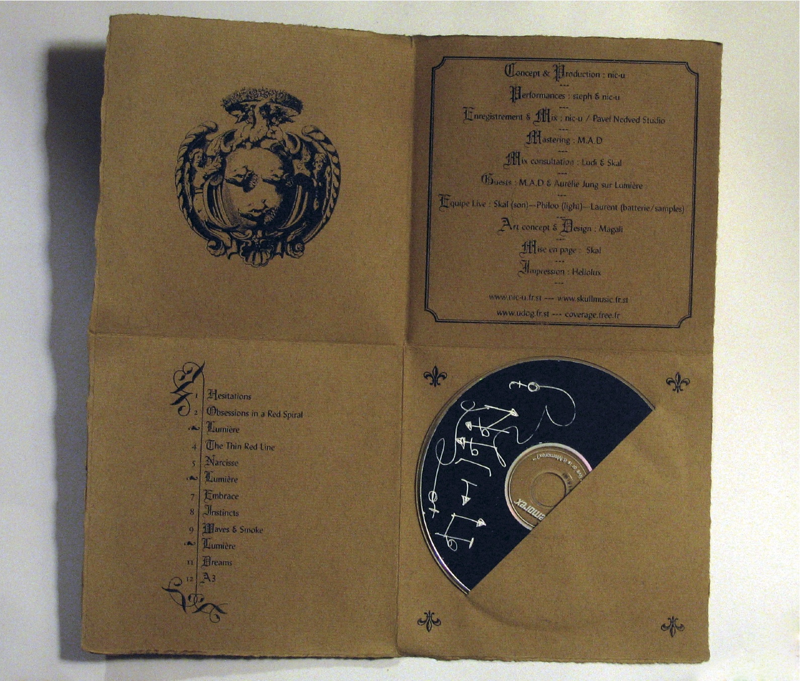 Pochette CD Nic-U, musicien