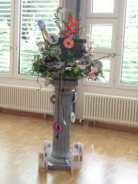 KunstPhilo Wochen 2011 im Bezirksspital affoltern am Albis Dekoration thema Compiuter