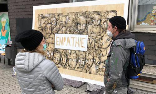 Kunst-Aktion gegen Rassismus