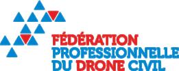 Novafly, spécialisée en topographie aérienne, modélisation 3 D, suivi de chantiers environnementaux, est adhérente à la fédération professionnelle du drone civil. Cette image en représente le logo.