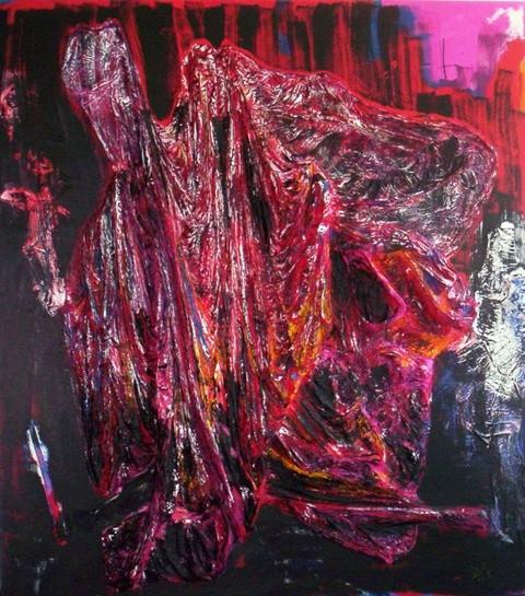 wenn träume fliegen, Acryl und Materialmix auf Leinwand, 200 x 200 cm, € 1.950,00