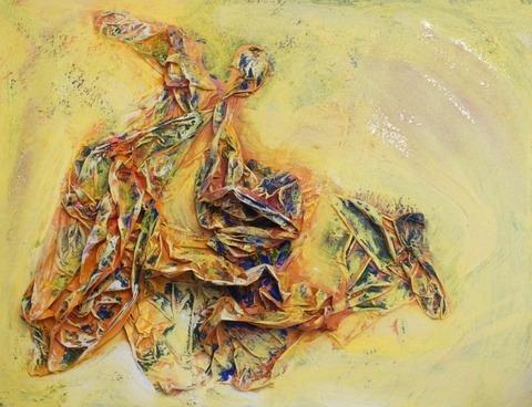 liebe verzaubert - Acryl und Materialmix auf Leinwand, 2012, 60 x 80cm, € 280,00
