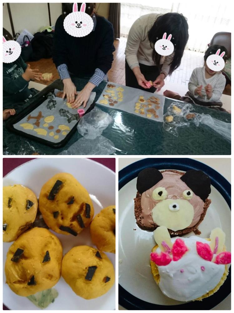 お母さんとお菓子作り