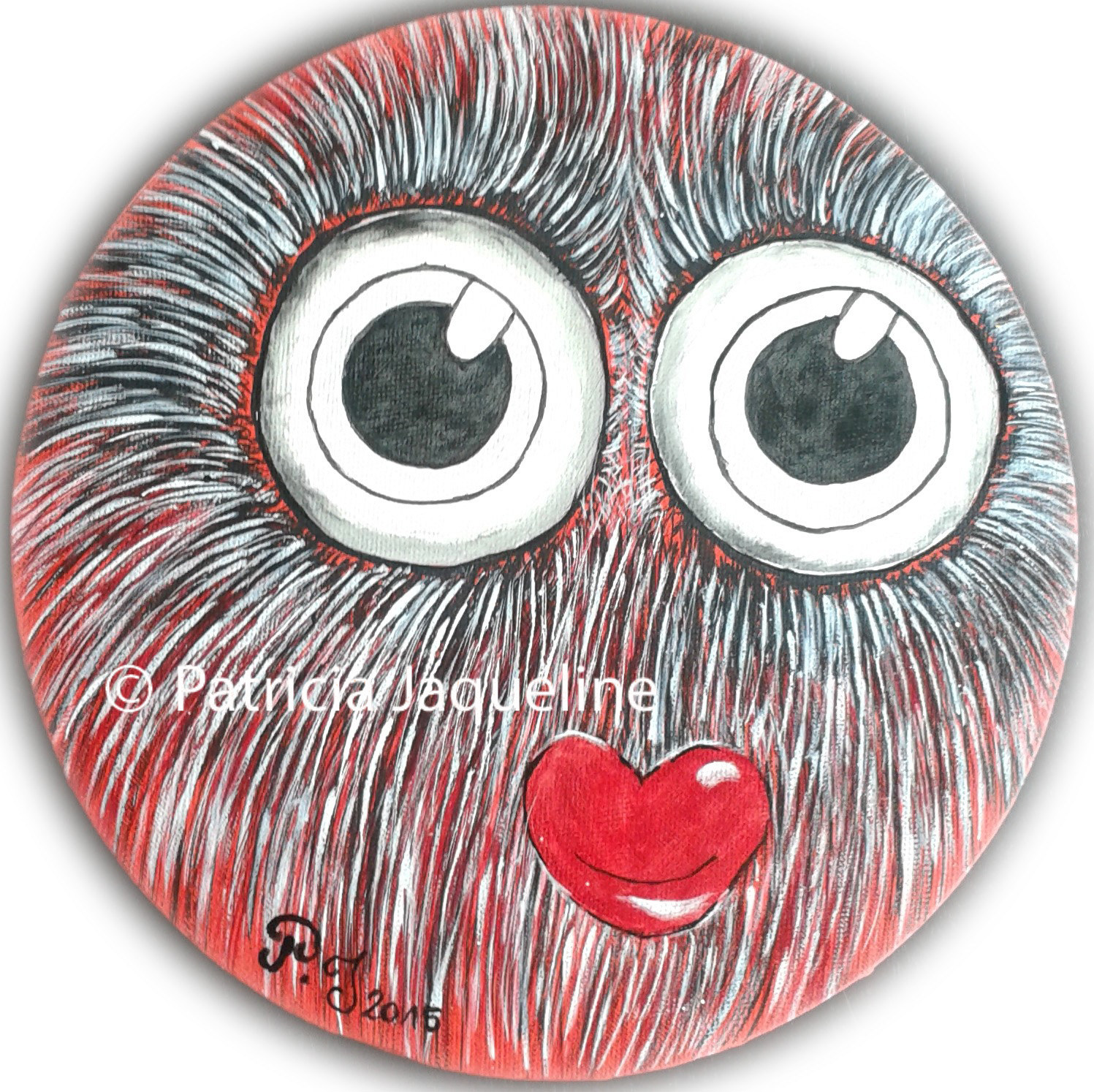 glückliche Glotzine - 2015 - Acryl on Canvas - 30 cm