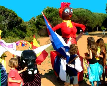 Grosses têtes de CARNAVAL 2011 ISOLELLA Corse du Sud