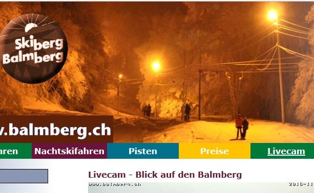 Webcam Balmberg Seilpark Kinderlift Richtung Mittelland