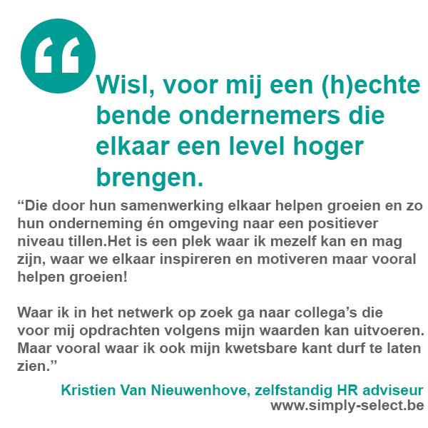 Kristien Van Nieuwenhove, zelfstandig HR adviseur   www.simply-select.be