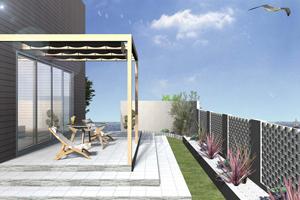 広いお庭を活かした開放感のある新築外構のご要望です。