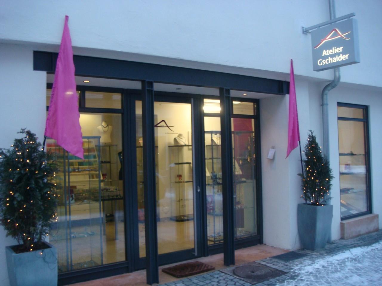 Eingangsbereich des Ateliers in Ulm