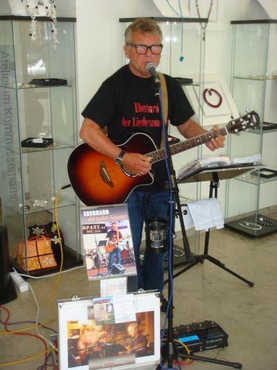 5 Jahre Atelier im Kornmesserhaus mit Eberhard dem Liedersammler