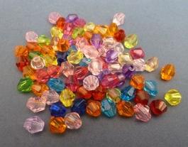 Acrylperlenr, leichte Schmuckelemente z.B. für Häkelketten