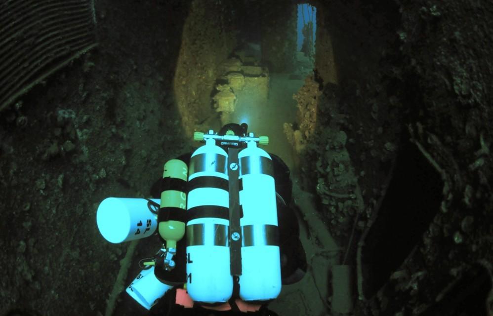 am Weg zur Werkstätte auf ca. 55m Tiefe
