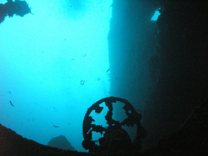 Lucke vom Tank aufs Deck auf ca. 55m Tiefe