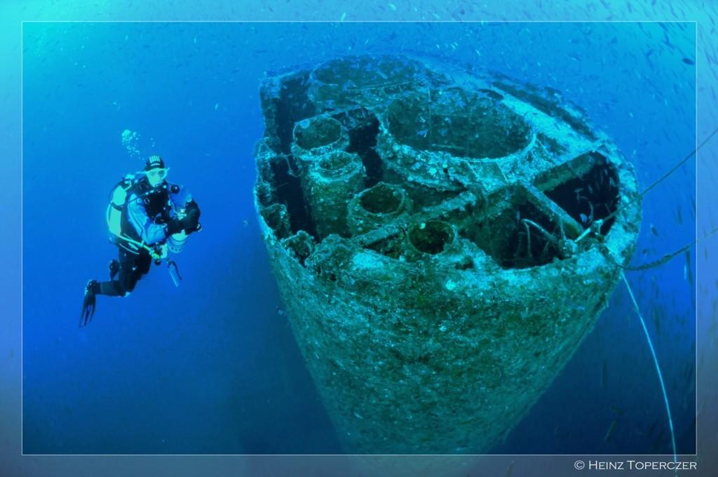 Schornstein auf ca. 40m Tiefe