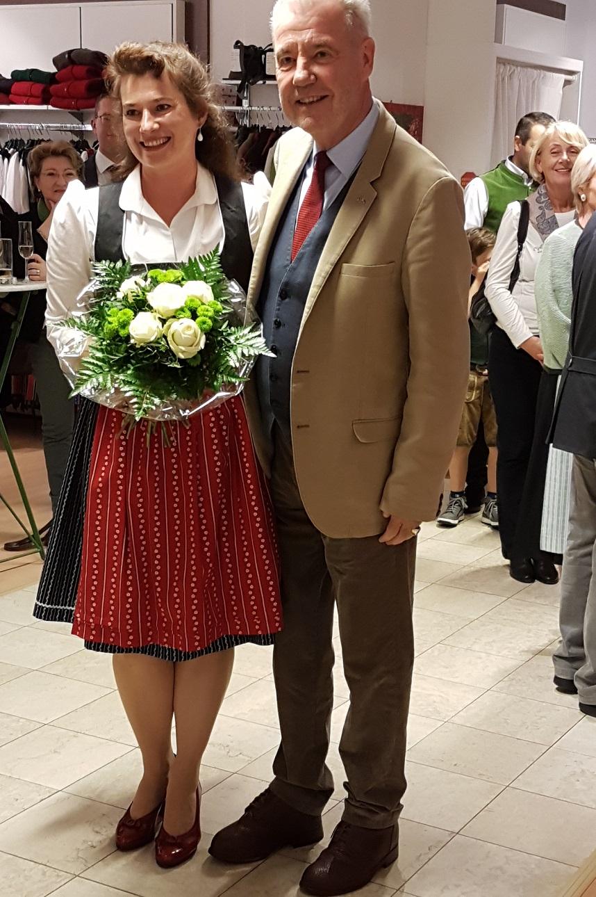 Eröffnung: Elke Wainig und Bürgermeister Klaus Schneeberger
