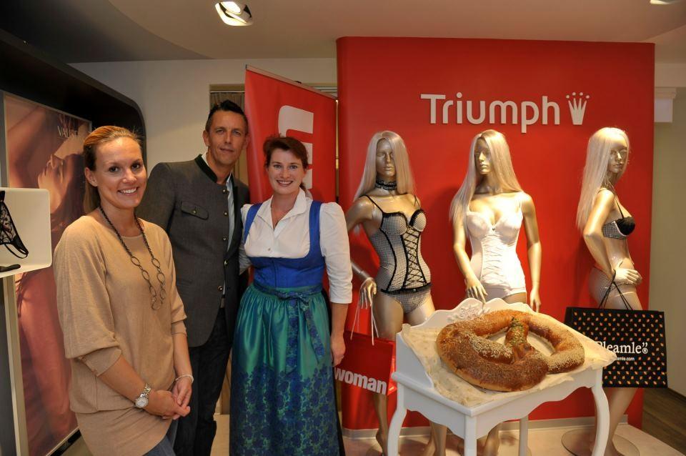 Triumph Vortrag Kärtnerstraße - mit Woman Redakteurin und Triumph Marketing Leiter