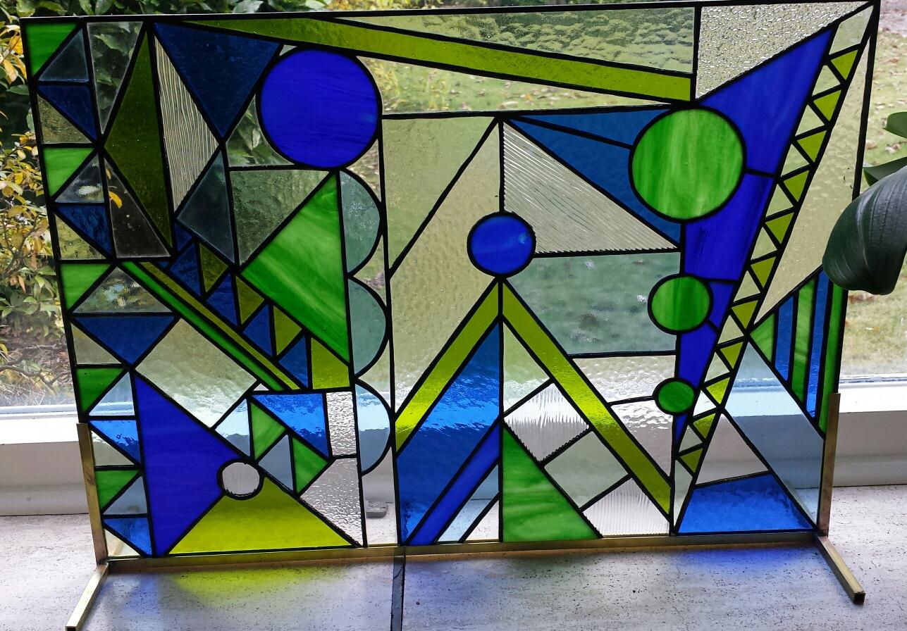 Glasobject voor vensterbank
