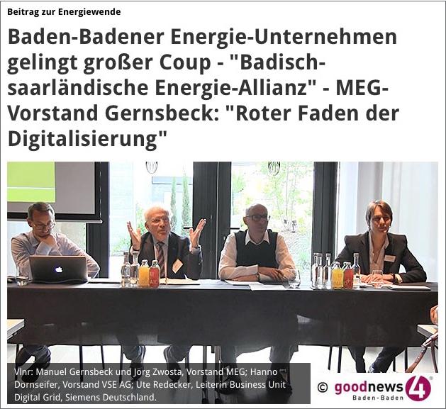 Pressekonferenz – MEG, / Mittelbadische Energiegenossenschaft, VSE AG / Siemens Deutschland