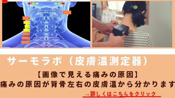 カイロプラクティックしもんは、皮膚温から身体のゆがみを見つけることのできるサーモラボという機械を導入しています。これのより術前術後の施術効果も目で確認できます。