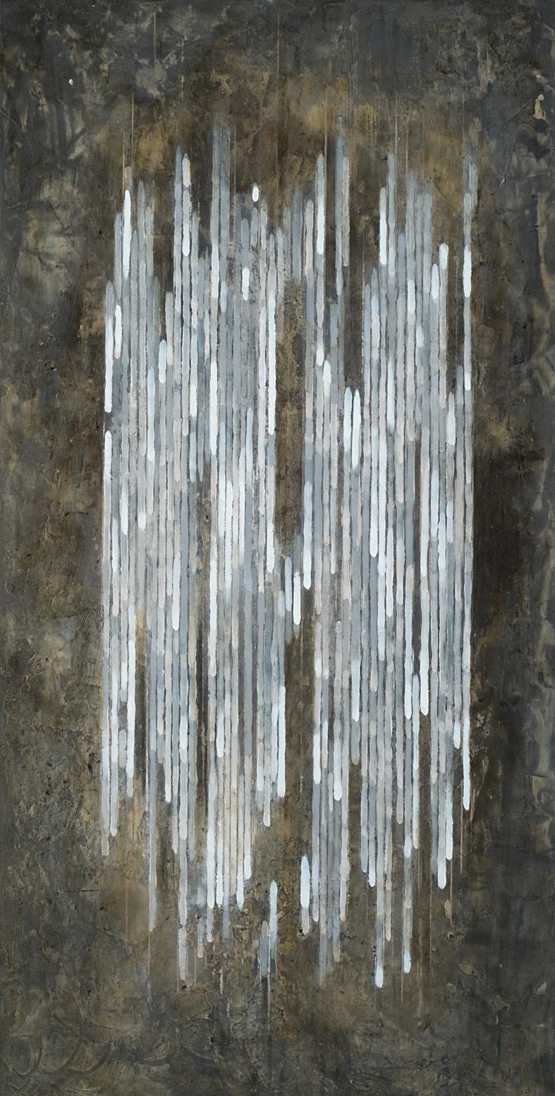 MELODY A  |  Mischtechnik auf Holzplatte  |  100 x 50 cm