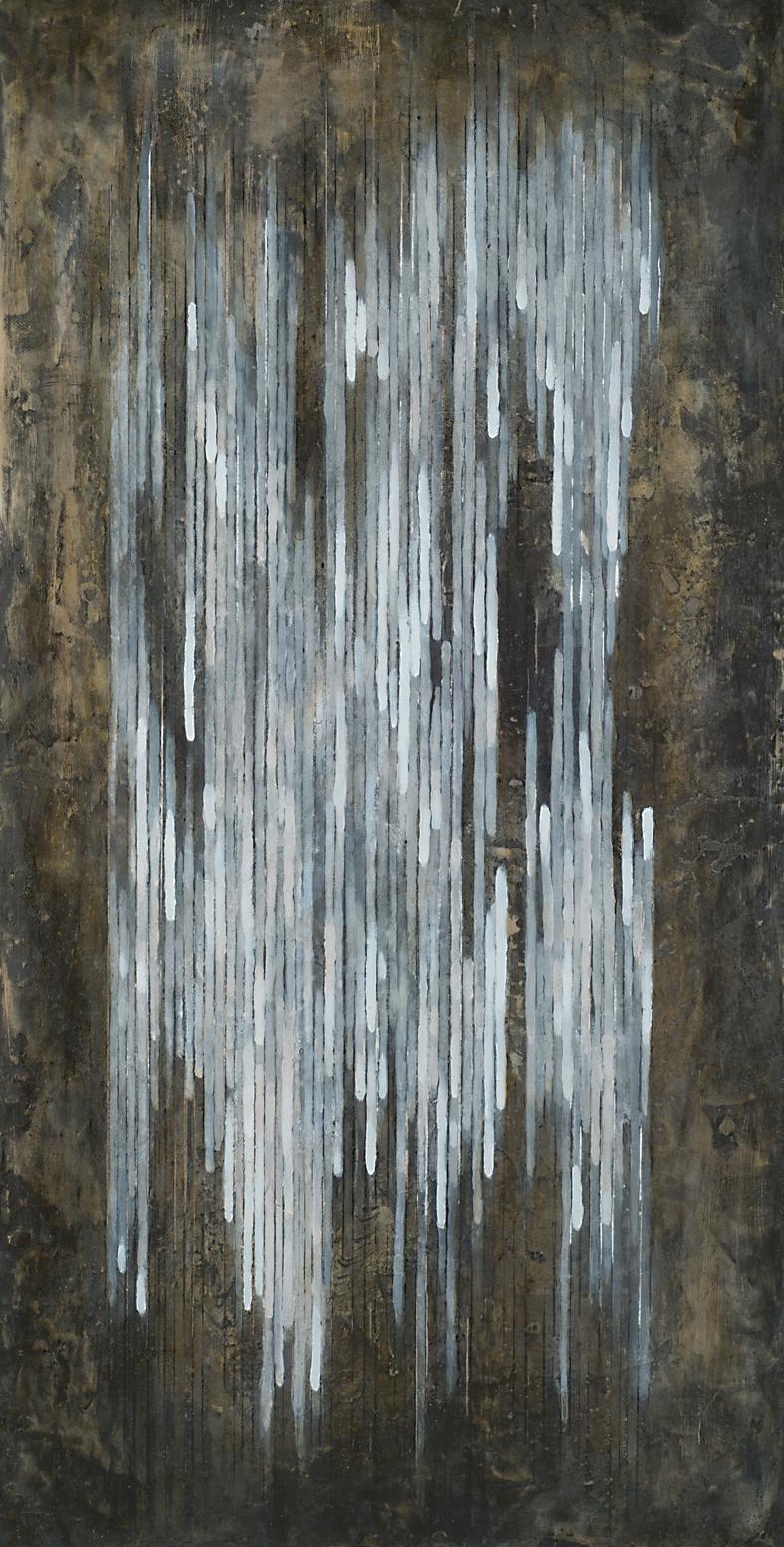 MELODY B  |  Mischtechnik auf Holzplatte  |  100 x 50 cm