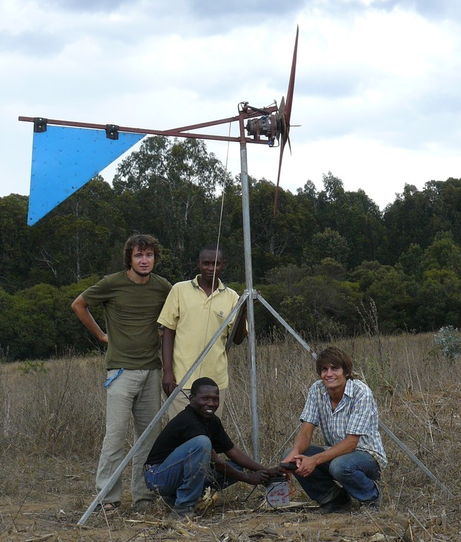 Third generation windmill built by volunteers and students in Mafinga