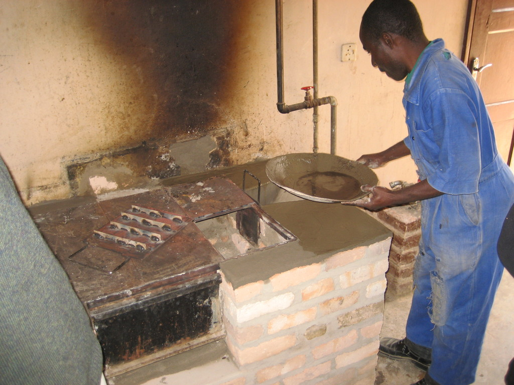 building a heat efficient stove in Mafinga