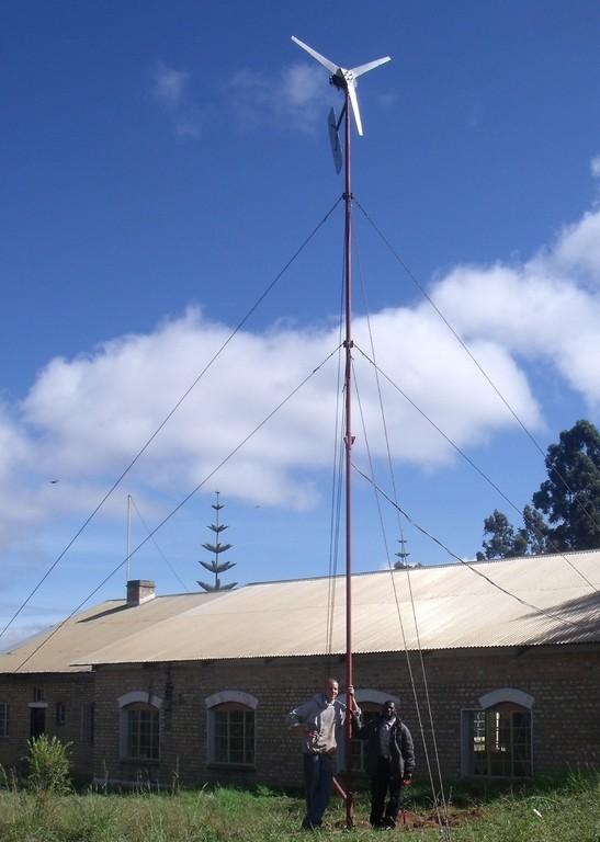 Latest generation presentation windmill at the school in Mafinga