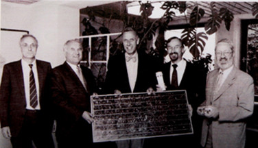 Founders of NSI e.V. in 2000 (Arved von Breitenstein in the middle)