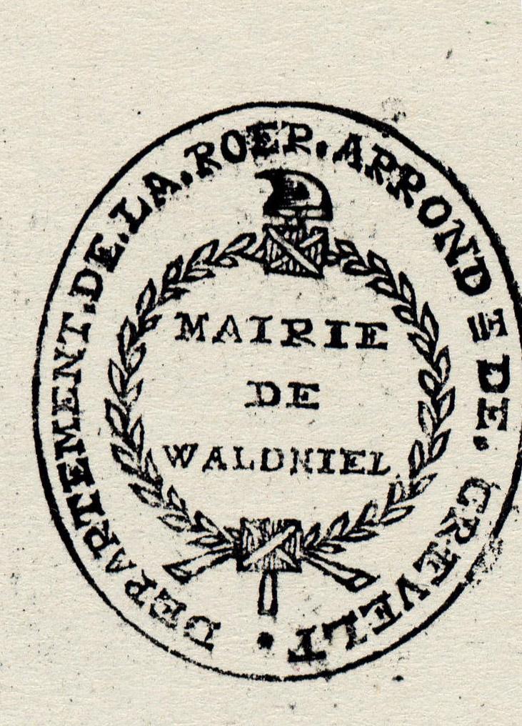 Siegel der Mairie de Waldniel