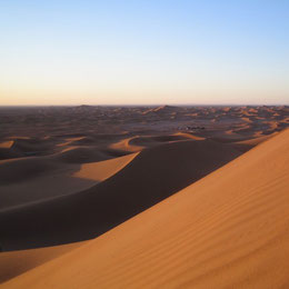 circuit dans le désert marocain