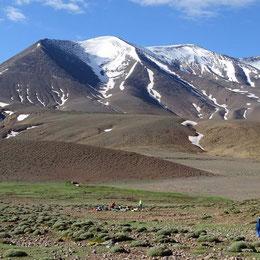 Ascensión del  m'goun en el Alto Atlas