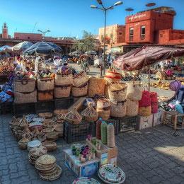 Los zocos de Marrakech