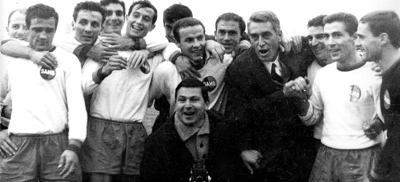 Foto sportiva di Carlo Baffoni con Mario Baffoni  - cortesia collez. Pino Perotti