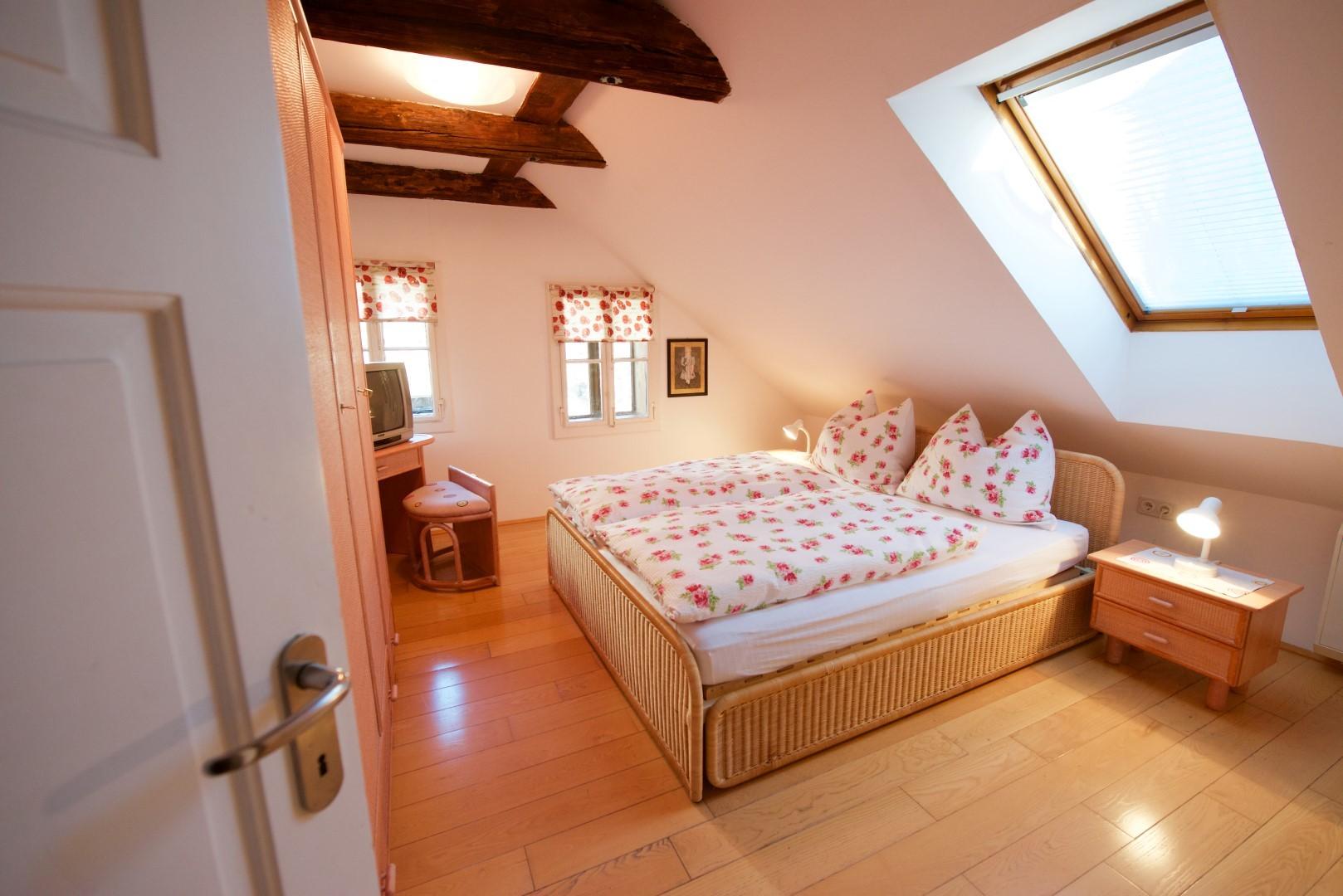 Schlafzimmer mit Dopplebett