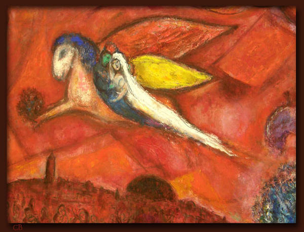 chagall amour couple mariage