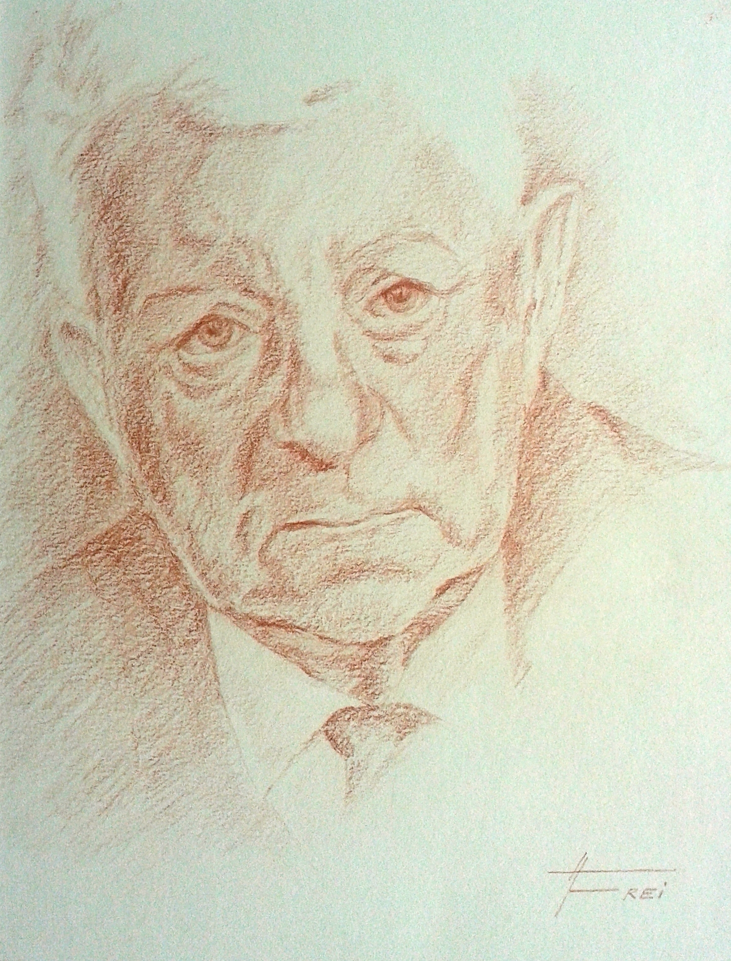 ART HFrei - J. Gabin - Rötelstift