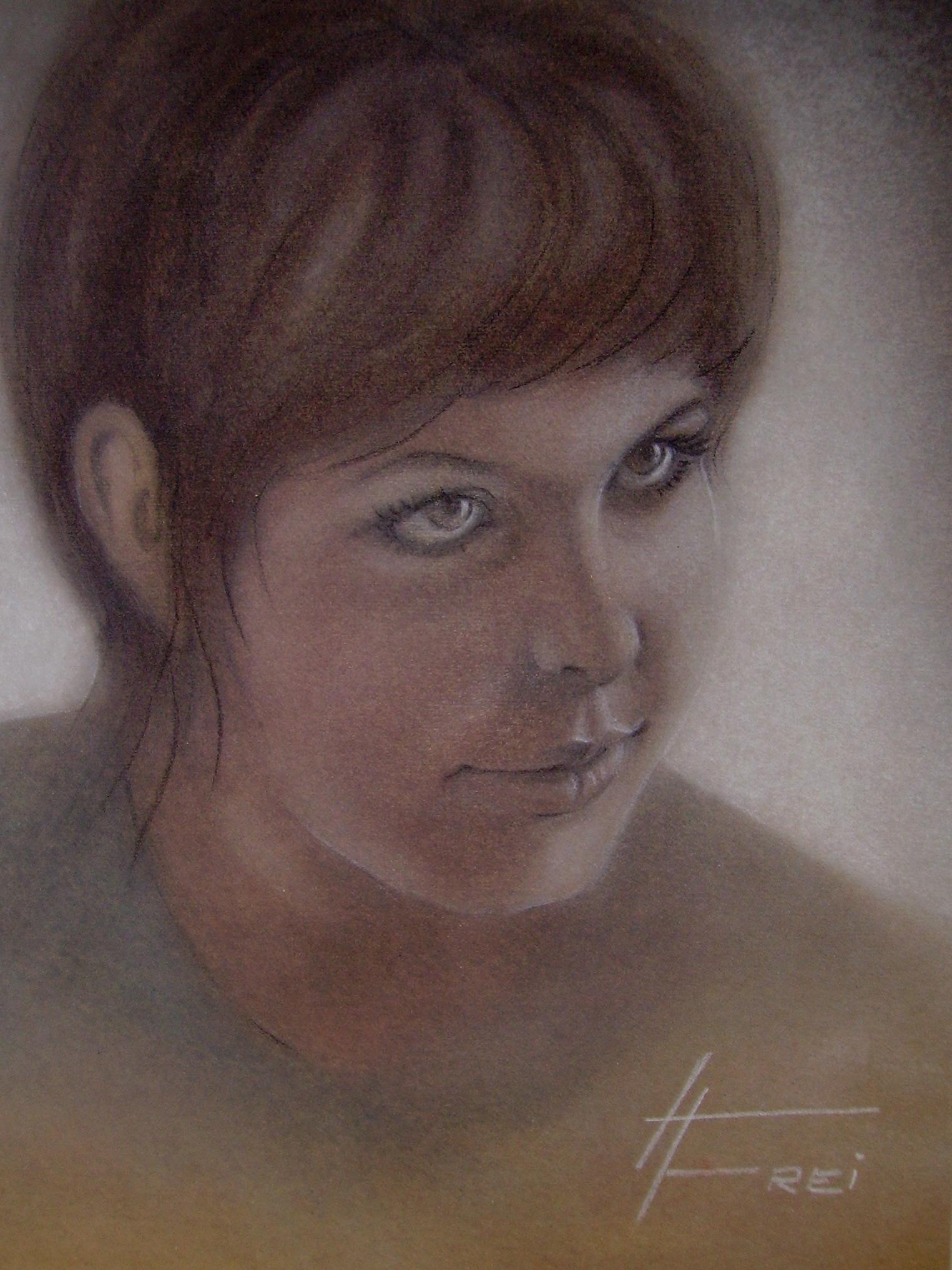 ART HFrei - Selbstportrait (Jugendzeit) - Pastell