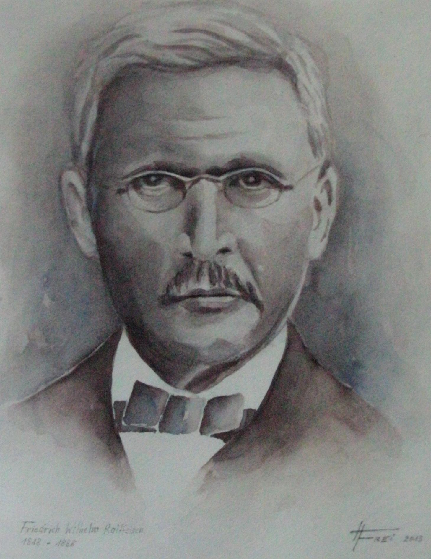 ART HFrei - F.W. Raiffeisen - Aquarell