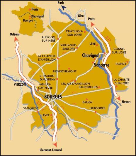 Zone de l'AOP Crottin de Chavignol (Source : http://www.crottindechavignol.com/le-chavignol/)