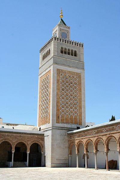 Minaret de la mosquée Zitouna à Tunis