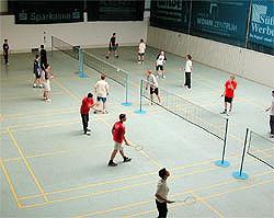 Badminton Wettkampf und Training