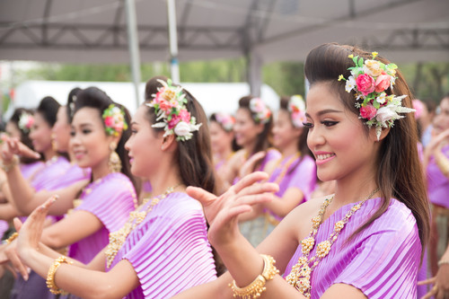 Das traditionelle Songkran Fest